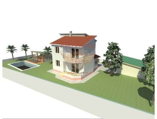 Bar'da 541 m2 'lik Arsada Yeni Ev, Karadağ da satılık havuzlu villa, Karadağ da satılık deniz manzaralı villa, Bar satılık müstakil ev
