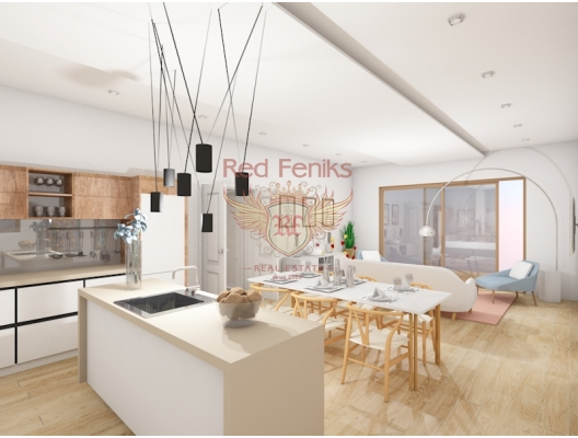 Satılık üç yatak odası ve iki banyo ile iki daire Tam donanımlı mutfak ve Villa Cadmeia yerleşik dolapları ile daireler.