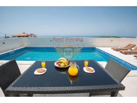 Modern House with Pool in Krimovice, Becici house buy, buy house in Montenegro, sea view house for sale in Montenegro