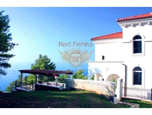 Satılık büyük lüks villa bir çam ormanında Budva Rivierası topraklarında yer almaktadır.