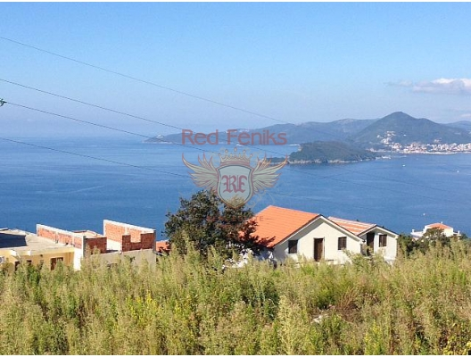 Blizikuce'de panoramik manzaralı arsa, Karadağ Arsa Fiyatları, Budva da satılık arsa, Kotor da satılık arsa