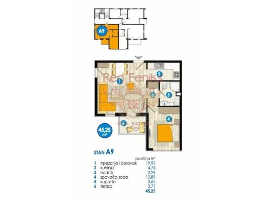 Budva'da Yeni Kompleks, Region Budva da ev fiyatları, Region Budva satılık ev fiyatları, Region Budva ev almak