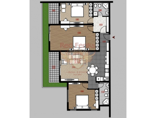 Apartments in a new complex. Dobra voda, sea view apartment for sale in Montenegro, buy apartment in Bar, house in Region Bar and Ulcinj buy