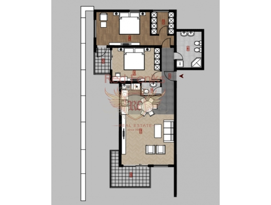 Apartments in a new complex. Dobra voda, apartment for sale in Region Bar and Ulcinj, sale apartment in Bar, buy home in Montenegro