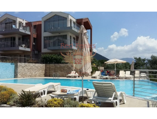 One bedroom apartment in a complex with a swimming pool on the shore of the Boka Bay, hotel residence for sale in Herceg Novi, hotel room for sale in europe, hotel room in Europe