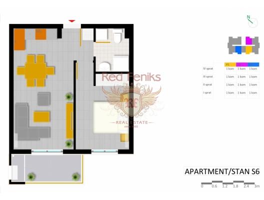 Uljcin'de yeni kompleks, becici satılık daire, Karadağ da ev fiyatları, Karadağ da ev almak