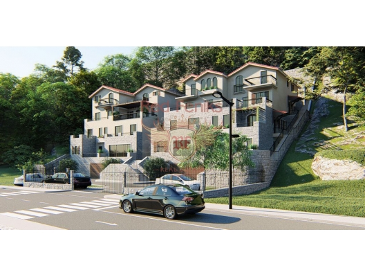 Apartments in a new complex on the beachfront in Boka Bay, apartments for rent in Bigova buy, apartments for sale in Montenegro, flats in Montenegro sale