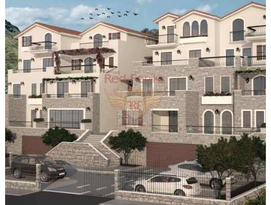 Apartments in a new complex on the beachfront in Boka Bay, sea view apartment for sale in Montenegro, buy apartment in Bigova, house in Region Tivat buy