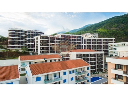 New residential complex in Becici, hotel residences for sale in Montenegro, hotel apartment for sale in Region Budva