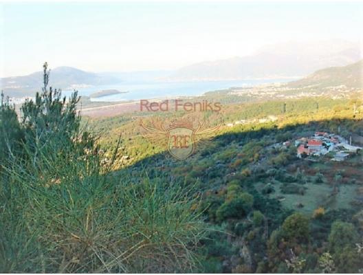 Boka Kotorska Körfezi'nde deniz manzaralı kentsel arsa, Karadağ da satılık arsa, Karadağ da satılık imar arsası