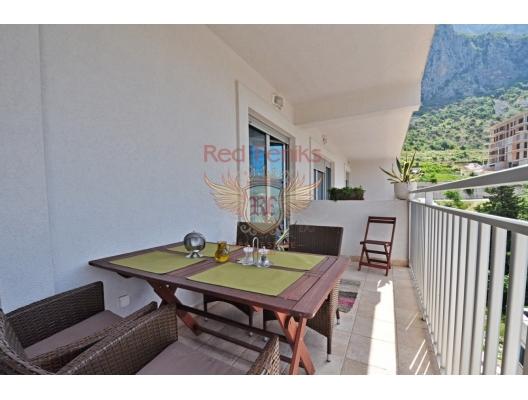 Kotor Körfezi'nin muhteşem manzarasına sahip şık 1 yatak odalı daire, Dobrota da ev fiyatları, Dobrota satılık ev fiyatları, Dobrota da ev almak
