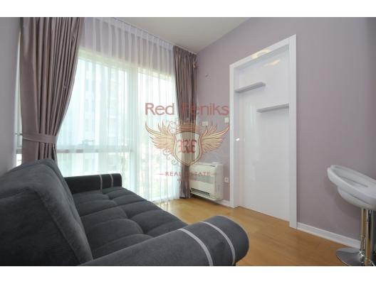 Budva'nın ön cephesinde üç yatak odalı daire 3+1, Karadağ'da satılık otel konsepti daire, Karadağ'da satılık otel konseptli apart daireler, karadağ yatırım fırsatları