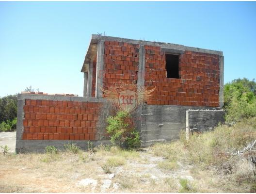 Krimovica'da bitmemiş ev, Karadağ da satılık havuzlu villa, Karadağ da satılık deniz manzaralı villa, Krasici satılık müstakil ev