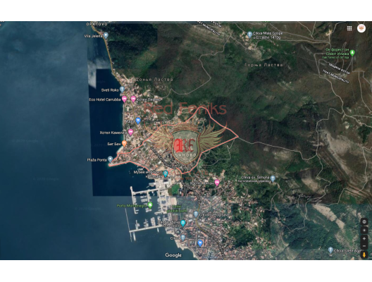Urbanized plot with a sea view in Tivat, Montenegro real estate, property in Montenegro, buy land in Montenegro