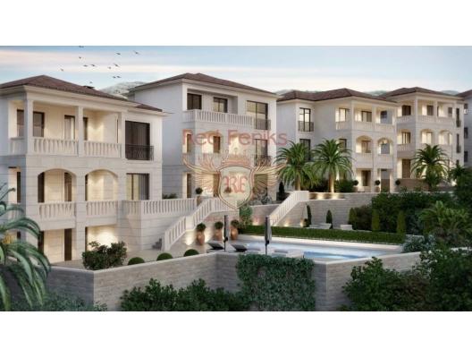 3 217 m2 arsasında, Rezevici Skoci Devojka köyünde bir villalar kompleksi var.