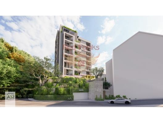 Rafailovici'de Yeni Konut Kompleksi 1+0, Karadağ'da garantili kira geliri olan yatırım, Becici da Satılık Konut, Becici da satılık yatırımlık ev