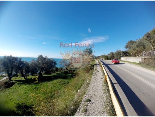 Big plot at the first coastline, building land in Region Bar and Ulcinj, land for sale in Bar Montenegro