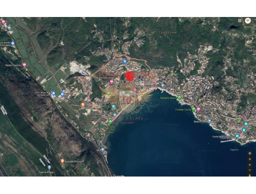 Magnificent sea view apartment with pool and garden in Igalo, sea view apartment for sale in Montenegro, buy apartment in Baosici, house in Herceg Novi buy