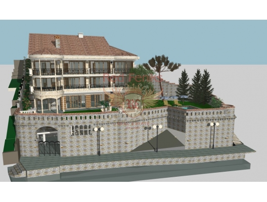 Project of a luxury villa on the first line in Bigova, hotel residences for sale in Montenegro, hotel apartment for sale in Region Tivat