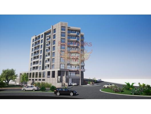 Becici, Budva yeni bir kompleks içinde satılık daireler.