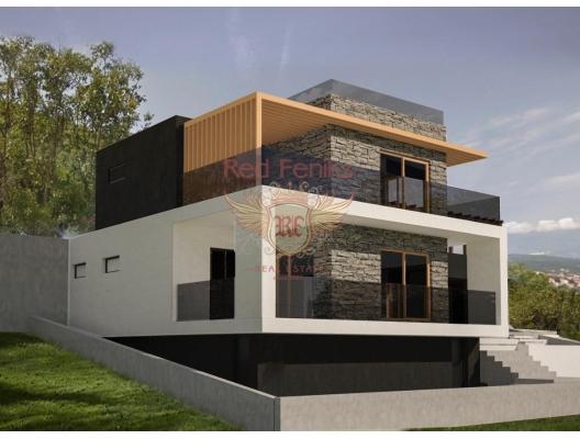 Lustica yarımadası Zabrze'de yapım aşamasında bir projeye sahip panoramik iki katlı ev.