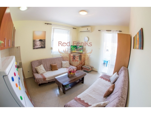 For sale offers a cozy Studio in a quiet area of Budva, Montenegro.