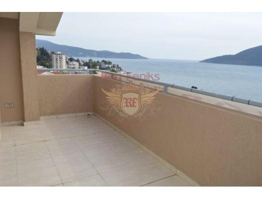 Herceg Novi'de Deniz Manzaralı Geniş Daire, Karadağ satılık evler, Karadağ da satılık daire, Karadağ da satılık daireler