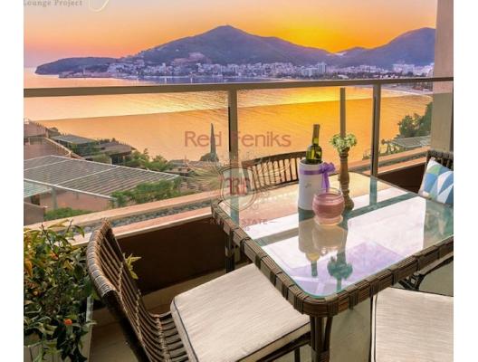 Budva'da 1+1 Denize 50 metre Daire, becici satılık daire, Karadağ da ev fiyatları, Karadağ da ev almak