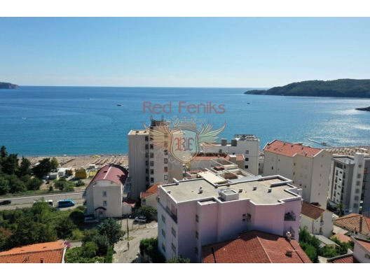 For sale new resedential complex in Becici Complex located on the small hill and that is why from all apartments opening the beautiful sea view to the sea and Sv.