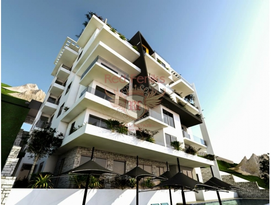 Apartments in a new complex located in Dobrovoy Voda on the first coastline.