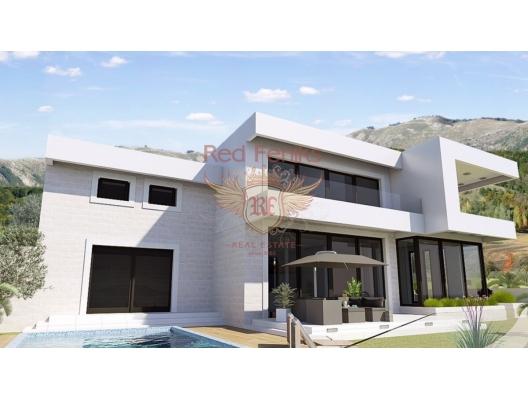 Blizikuce'de Güzel Modern Villa, Karadağ da satılık havuzlu villa, Karadağ da satılık deniz manzaralı villa, Becici satılık müstakil ev