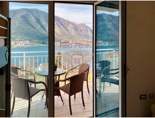 In a new modern complex on the shore of the Boka Kotor Bay, a two-bedroom apartment is for sale.