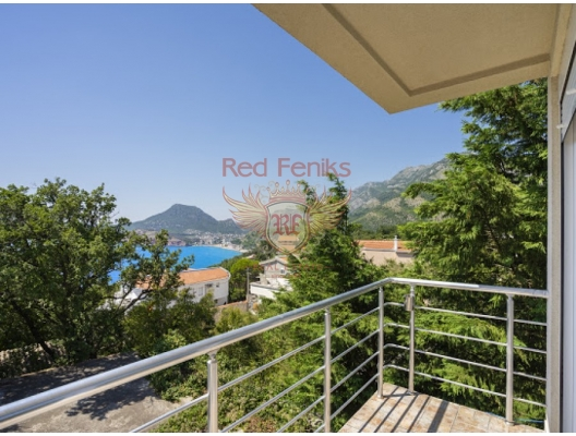 Three-storey House with Pot in the Resort town of Ratac in the Bar region, Bar house buy, buy house in Montenegro, sea view house for sale in Montenegro