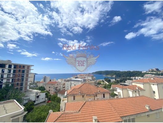 For sale one bedroom apartment in Becici with panoramic sea view.