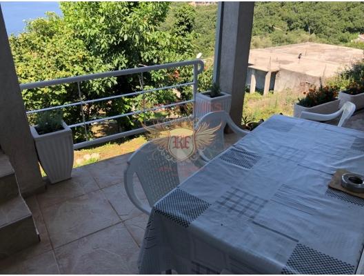 Panoramic house in Przno, Karadağ da satılık havuzlu villa, Karadağ da satılık deniz manzaralı villa, Becici satılık müstakil ev