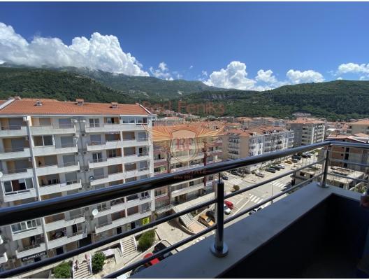 Budva'da satılık tek yatak odalı apartmnet.