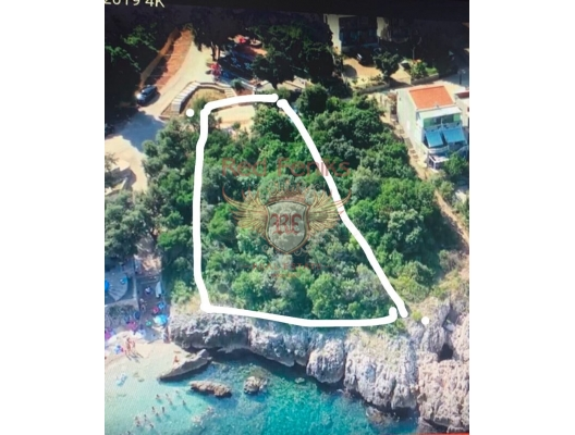 Urbanized plot on the beachfront, Bar riviera, building land in Region Bar and Ulcinj, land for sale in Bar Montenegro