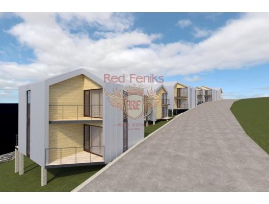 Land For Sale 2000 sq.m., Just 500 Meters From The Sea + Idea Project For a Touristic Apartments Complex in Lustica, Montenegro da satılık arsa, Montenegro da satılık imar arsası