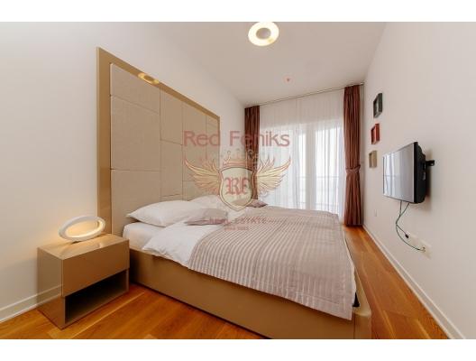 Budva'nın Ön Cephesinde Tek Yatak Odalı Daire 1+1, Karadağ'da garantili kira geliri olan yatırım, Becici da Satılık Konut, Becici da satılık yatırımlık ev