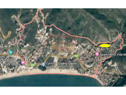 For sale construction land for building apartments in Becici.