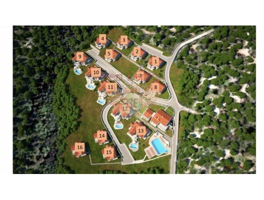 Das ganze Objekt mit Fundamenten für die Villen und das Grundstück steht zum Verkauf! Objektinformationen Villa Nr.
