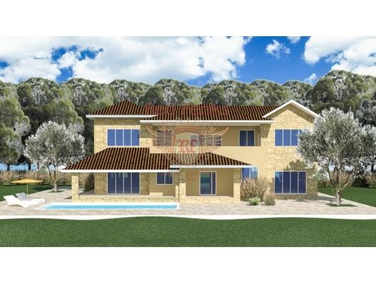 Villa with panoramic views in the resort village of Kumbor
