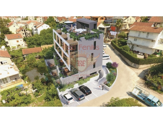 For sale new residential complex in Tivat, 150 meters from Porto Montenegro and 500 meters from the sea.