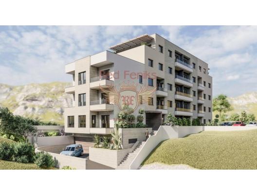 Budva'da satılık yeni rezidans.