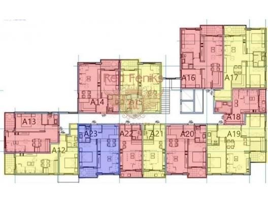 Budva'da Yeni Konut Binası 1+1, Region Budva da satılık evler, Region Budva satılık daire, Region Budva satılık daireler