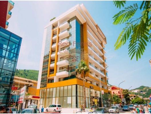 For sale one bedroom apartment in a new building in Budva only 50 meters from the sea.