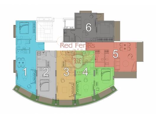 Becici'de zarif bir butik kompleksinde daireler, Karadağ'da satılık otel konsepti daire, Karadağ'da satılık otel konseptli apart daireler, karadağ yatırım fırsatları