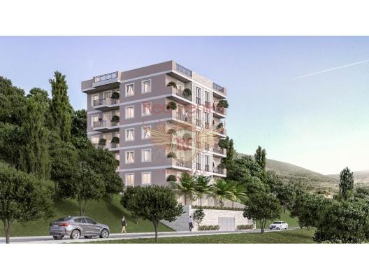Budva'da satılık yeni konut kompleksi.