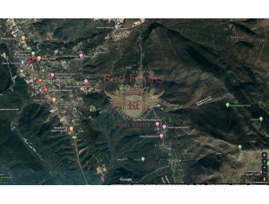 Radanovici kentleşmiş arsa., Montenegro da satılık arsa, Montenegro da satılık imar arsası