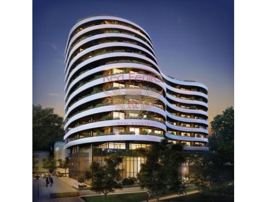 Budva'da, yeni konut kompleksi, İlk Hat, Montenegro da satılık emlak, Becici da satılık ev, Becici da satılık emlak